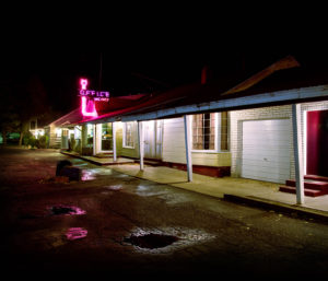 motel at night, Christopher Moss