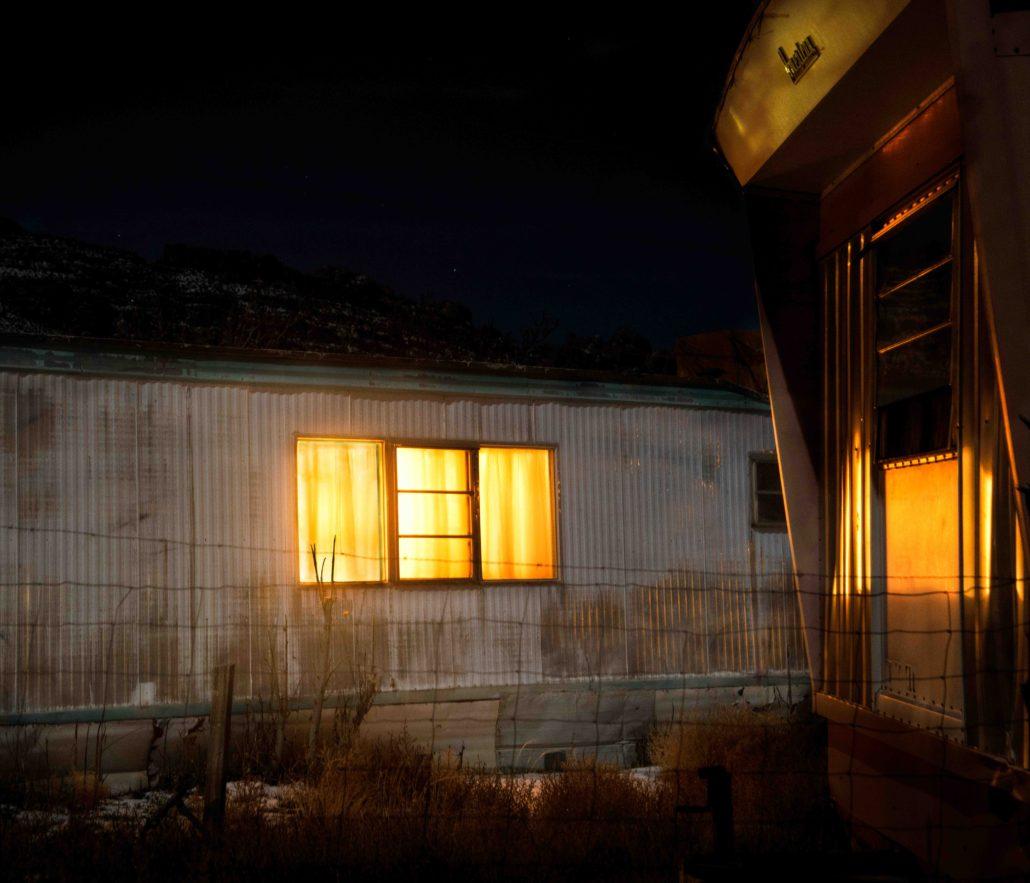 Art, Moss Image, Chris Moss, Moab Photographer, Trailer at night