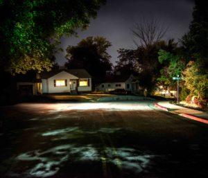Art, Moss Image, Chris Moss, Watching, House at night