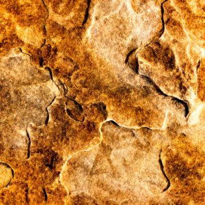 Moss Image, Chris Moss, picture of a sandstone rock yellow and gold