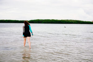 Cuba, Moss Image, girl walking through water, moab photographer