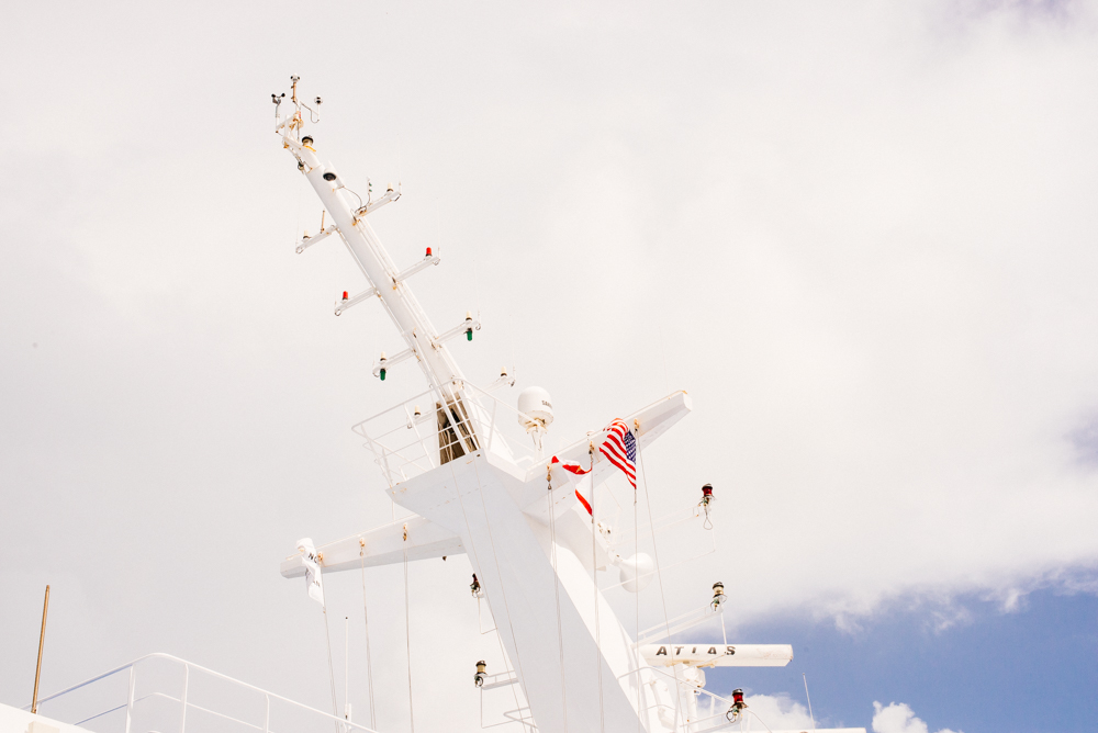 radio tower on a cruise ship, moss image, travel, cuba