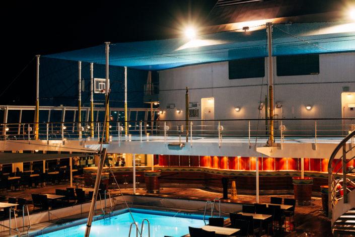 norwegian sky cruise ship at night, moss image, chris moss, travel, cuba