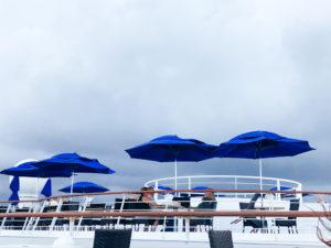 Moss imge, blue umbrellas, cruise ship, chris mos, travel, cuba