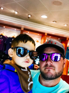kid and uncle wearing glasses